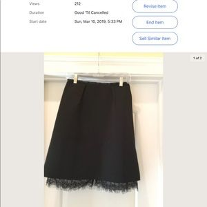 Ladies Black Skirt by Luna. Size L.